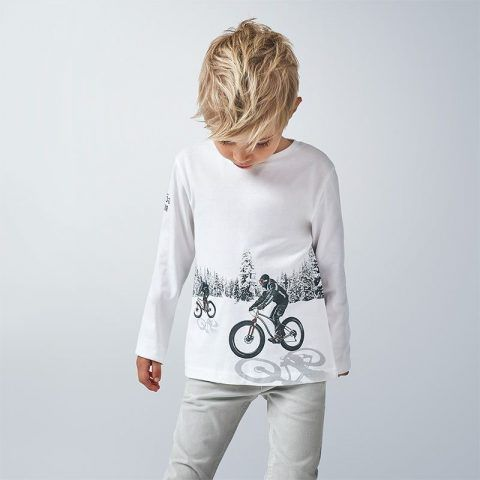 "Camiseta MAYORAL de manga larga reflectante ""play with"""