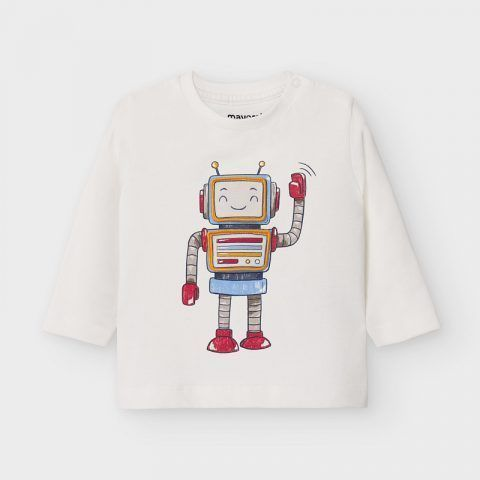 "Camiseta MAYORAL de manga larga ""play with robot"""